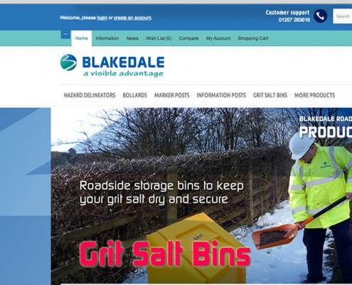 Opencart shop web design, Blakedale, Grit Bins