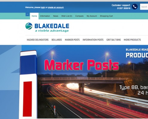 Opencart shop web design, Blakedale, Marker Posts