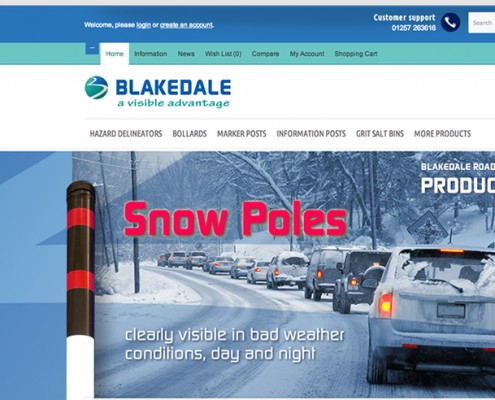 Opencart shop web design, Blakedale, Snow Poles