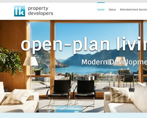 Wordpress web design LK Property Developers
