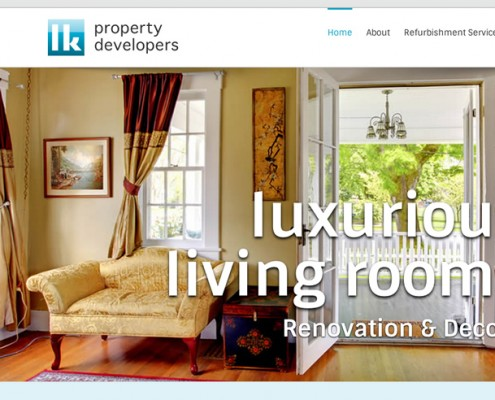 Wordpress web design LK Property Developers, living rooms