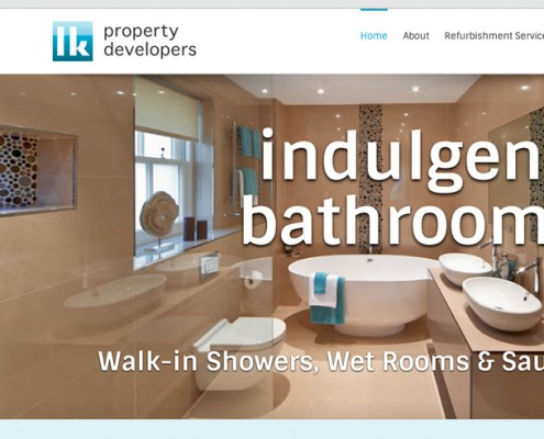 Wordpress web design LK Property Developers, bathrooms