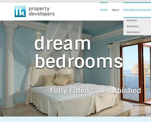 Wordpress web design LK Property Developers bedrooms