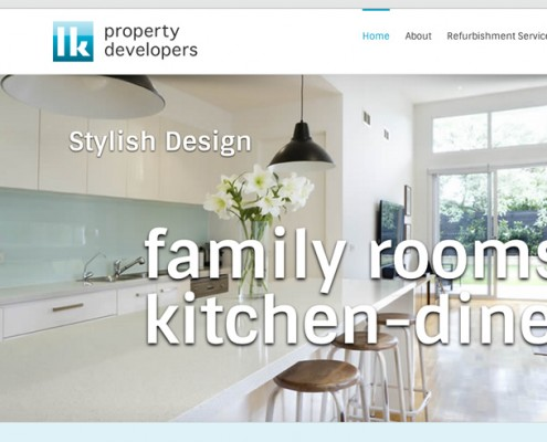 Wordpress web design LK Property Developers, kitchens