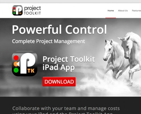 Wordpress website design Project Toolkit iPad App