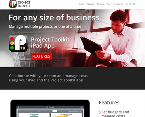 Wordpress website design Project Management iPad App