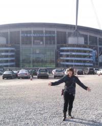 Etihad Stadium, Man City v Wigan, Anne-Marie, Orangebox, web designer, Latics supporter