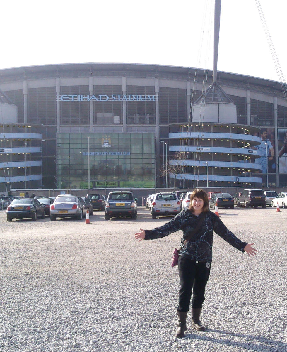 Etihad Stadium, Man City v Wigan, Anne-Marie, Orangebox, web designer, Latics supporter