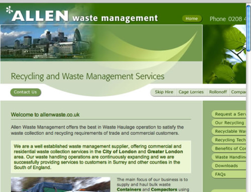 Allen Waste Web Design