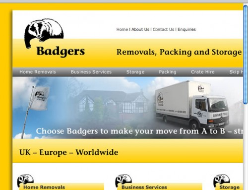 Badgers Removals Web Design