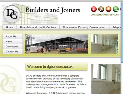 D&G Builders and Joiners Web Design