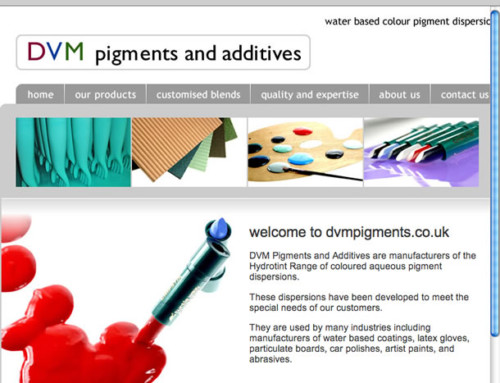 DVM Pigments Web Design
