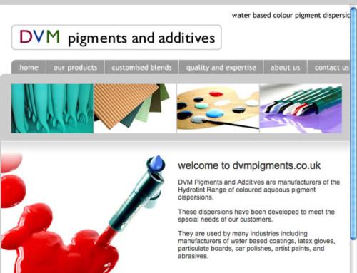 DVM Pigments Web Design