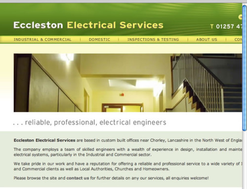 Eccleston Electrical Web Design