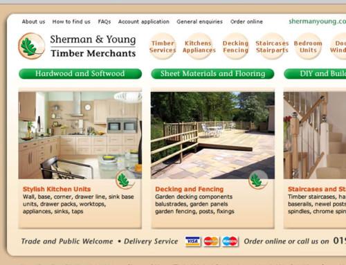 Sherman & Young, Timber Merchants, Web Design
