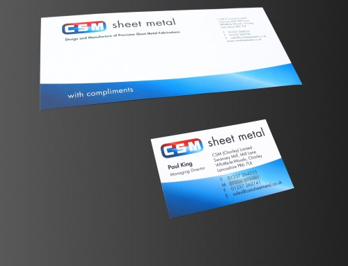 CSM Sheet Metal Logo, Branding, Business Cards, Stationery, Print Design | Orangebox Digital, Lancs, UK