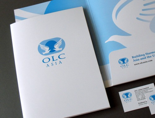 OLC Asia, Presentation Folder, Business Cards, Stationery, Print Design