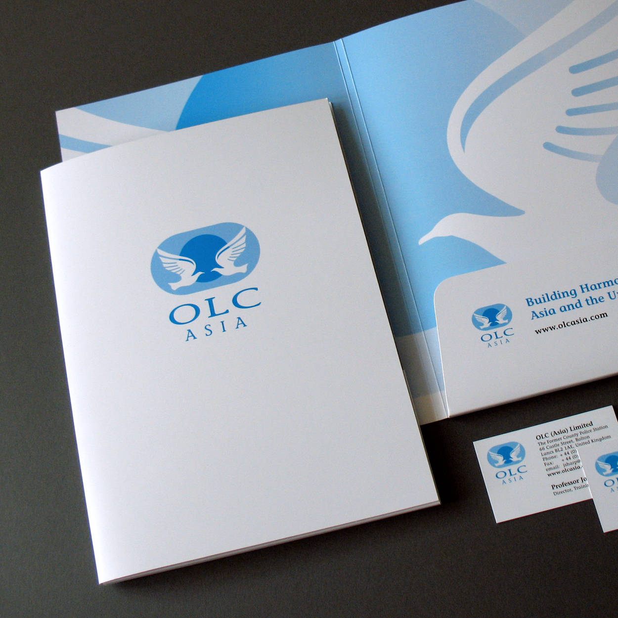 Brochures print design pdf web downloads graphics artwork wigan olc asia presentation folder business cards stationery print design reheart Gallery