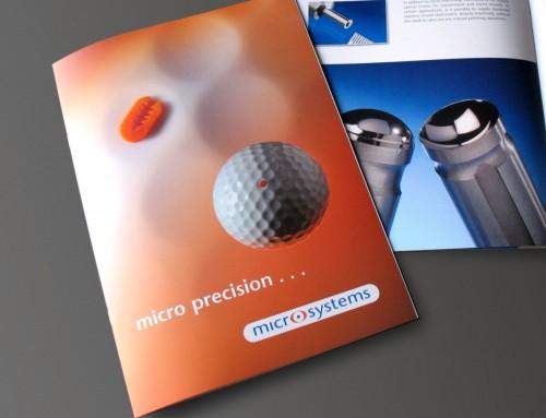 Microsystems Company Brochure, Print Design