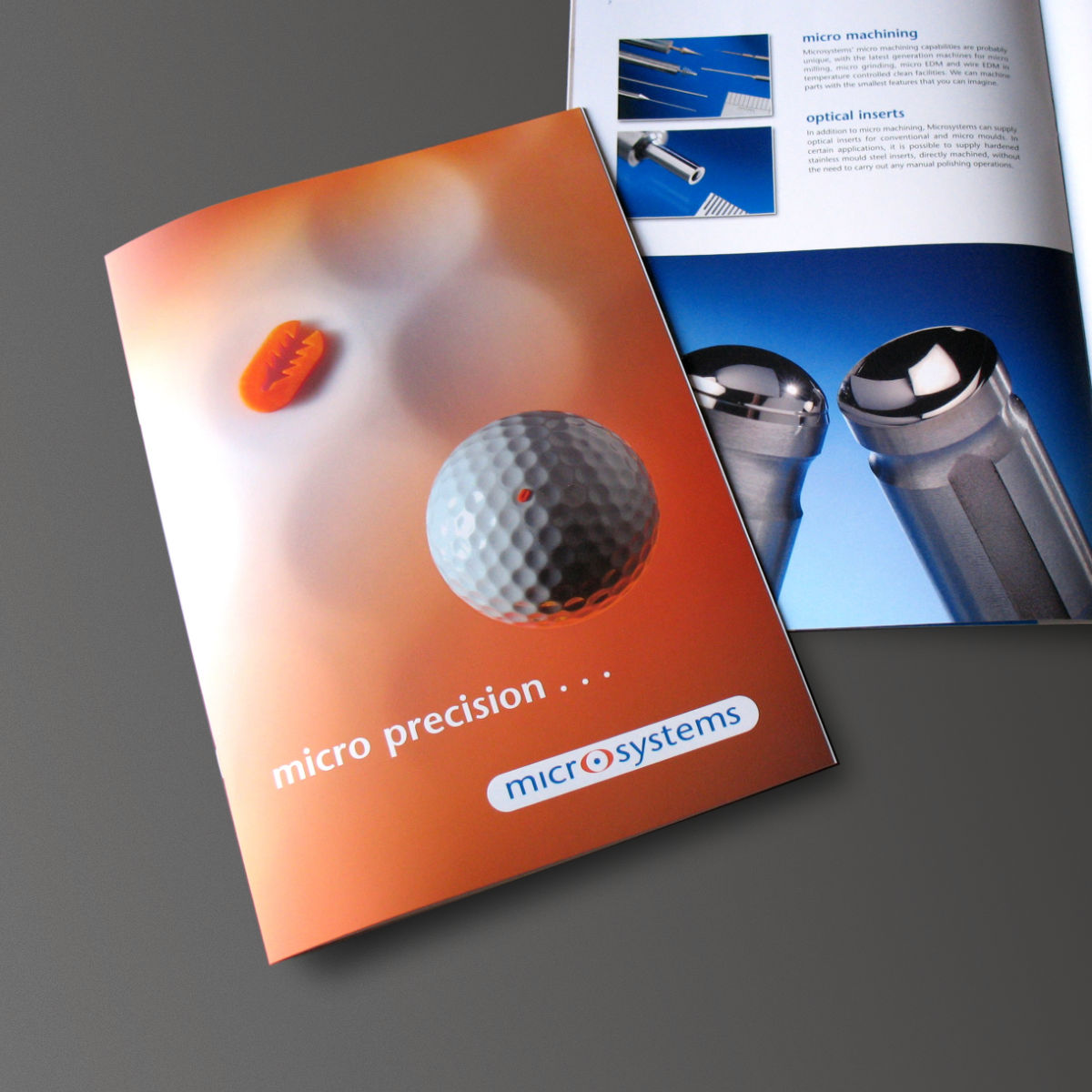 Microsystems Company Brochure, Print Design and Web PDF Download, produced by Orangebox