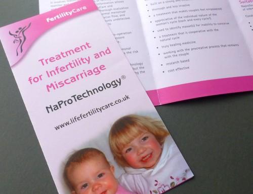 Life FertilityCare Leaflets, Print Design