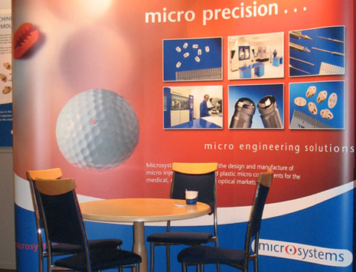 Microsystems Exhibition Stand, Graphics, Print Design by Orangebox