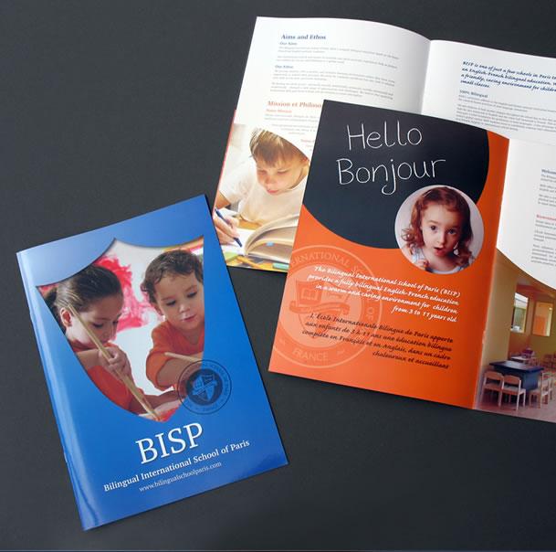 school prospectus BISP, print design services, orangebox