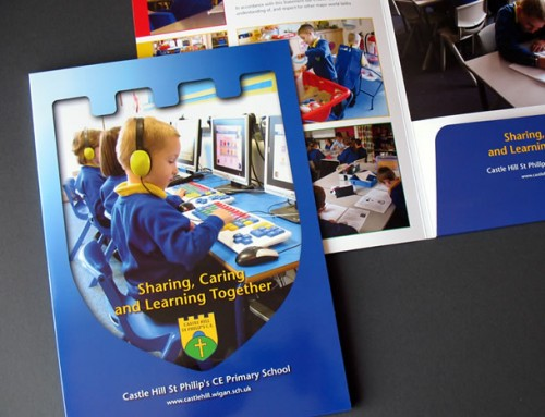 Castle Hill School Prospectus, Presentation Folder, Print Design