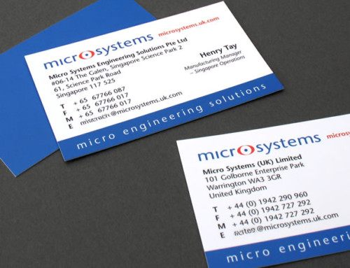 Microsystems Business Cards, Print Design, Branding, Brand Development | Orangebox Digital, Lancs, NW