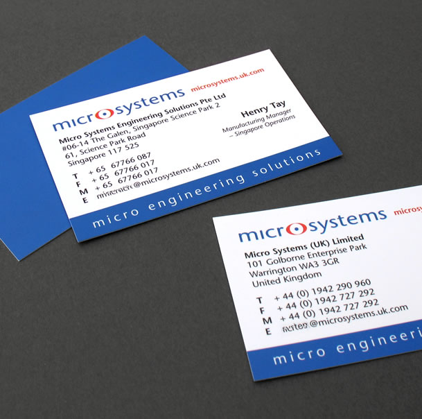 logo design, microsystems micro engineering, business cards print