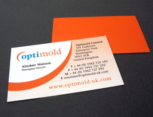 Optimold Business Cards, Print Design and Artwork