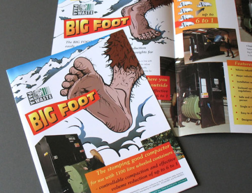 Big Foot Compactor, Pakawaste Brochure, Print Design
