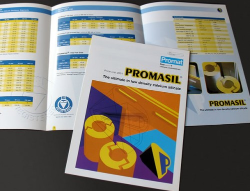 Promat Promasil Price List Product Brochure, Print Design