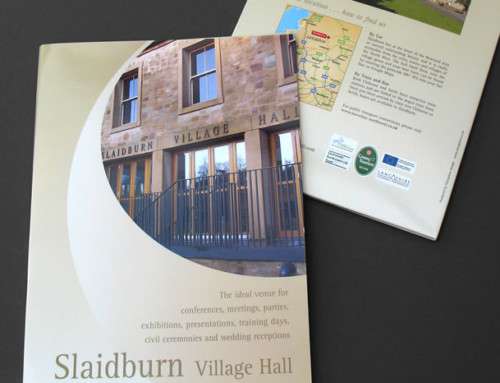 Slaidburn Village Hall, Venue Promotion Pack, Folder Print Design