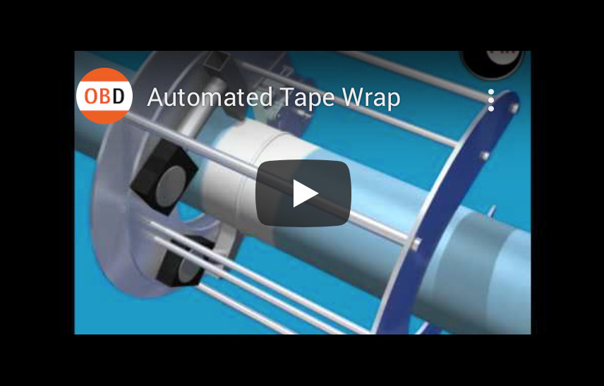 Automated Tape Wrap – Technical 3D Engineering Animation created by Mike Martin, Orangebox Project