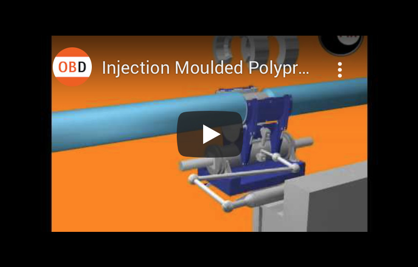 Injection Moulded Polypropylene Field Joint, 3d animation, orangebox project