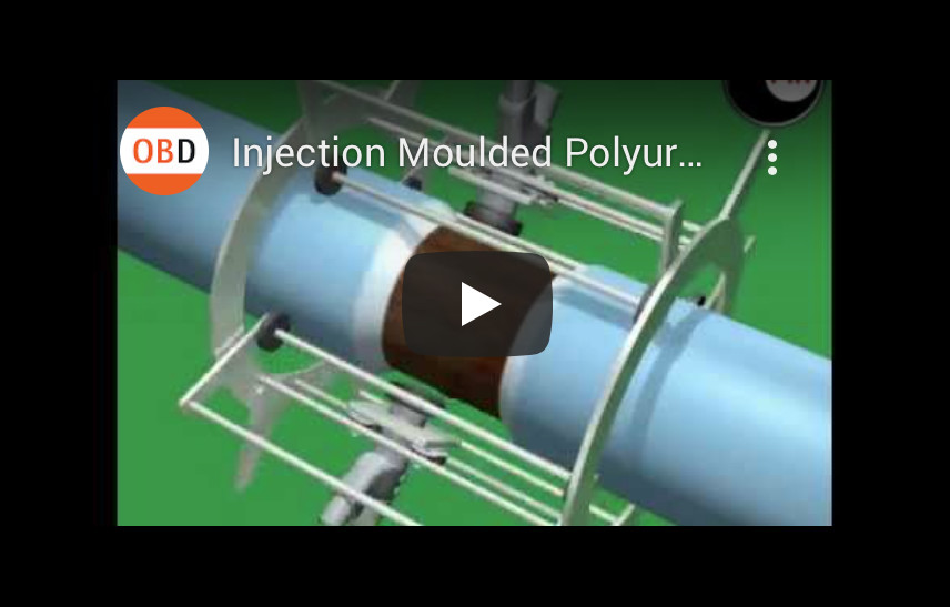 Injection Moulded Polyurethane Field Joint, 3d animation, orangebox project