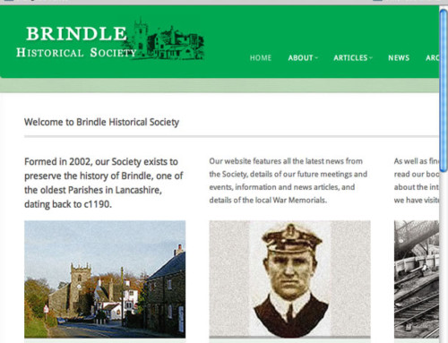 Brindle Historical Society Web Design