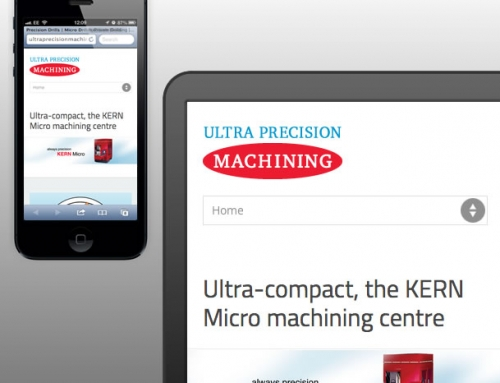 Ultra Precision Machining Responsive Web Design, Landing Page, Mini-website