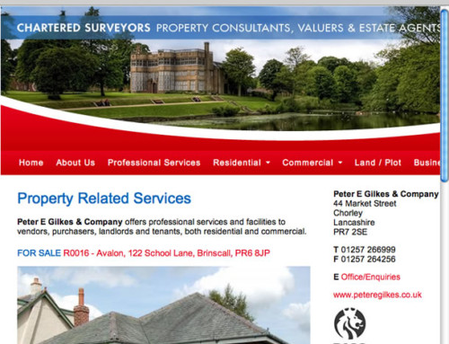 Peter E Gilkes Property Website, Web Design, Sales, Letting, Rentals | Orangebox Digital, Lancs, NW