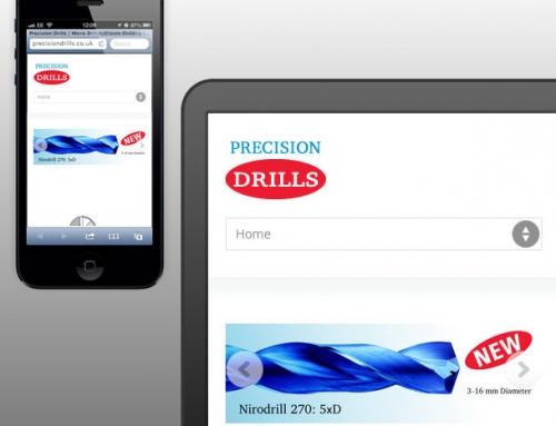 Precision Drills Responsive Web Design, Landing Page, Mini-website
