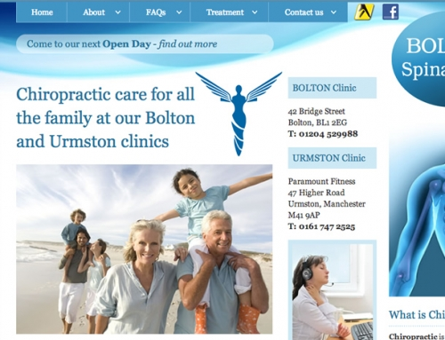 Bolton Spinal Care Web Design
