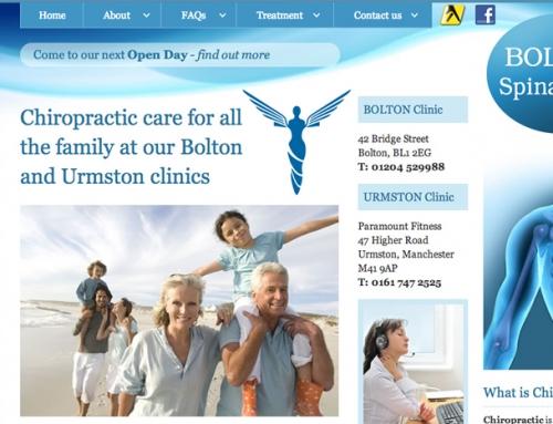 Bolton Spinal Care Web Design