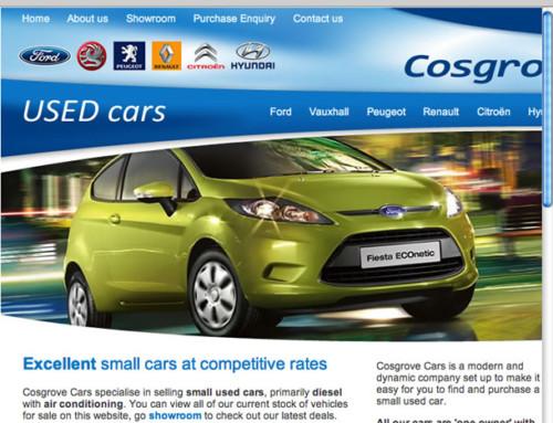 Cosgrove Cars Sales Web Design