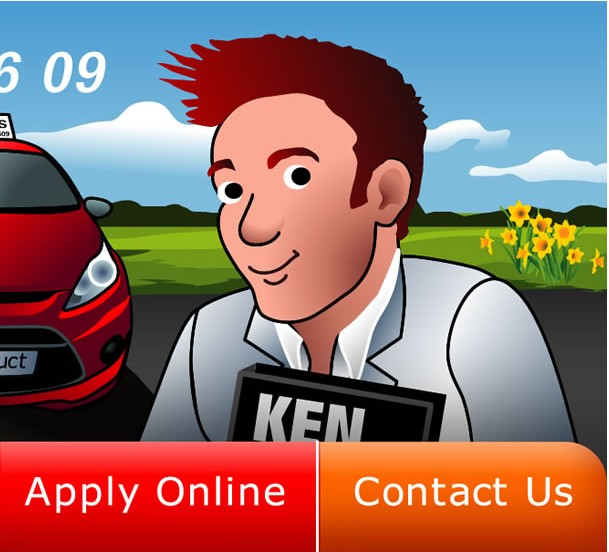 Brand Character Ken, Go Instruct Car Hire Web Banner, Spring