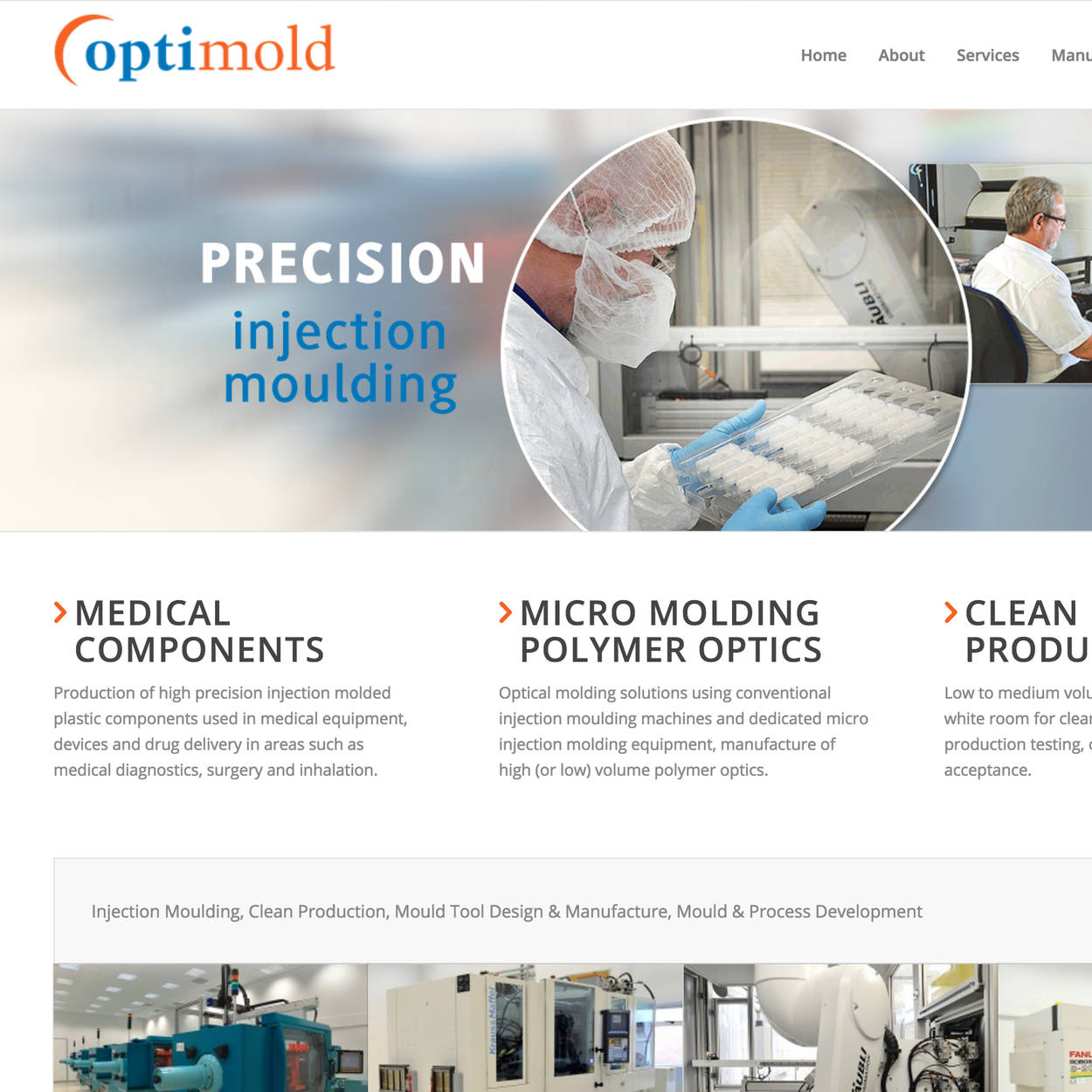 Optimold Precision Injection Moulding, Molded Parts Manufacture
