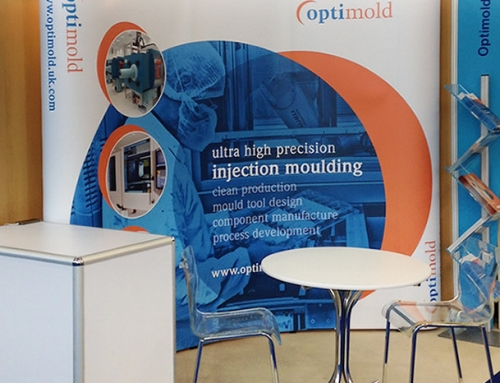 Optimold Exhibition Stand, Branding, Graphics, Print Design by Orangebox