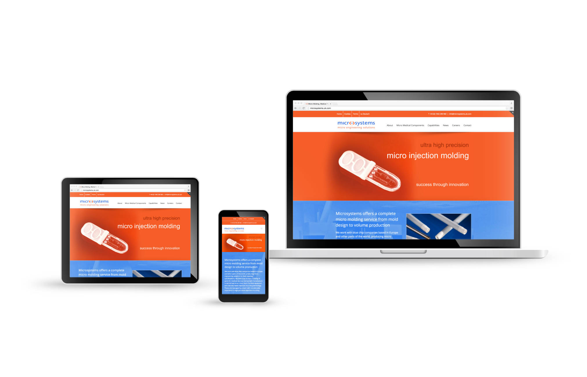orangebox wordpress web design microsystems engineering, Warrington