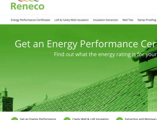 Reneco Energy Efficiency Improvements, Lancashire, WordPress Web Design