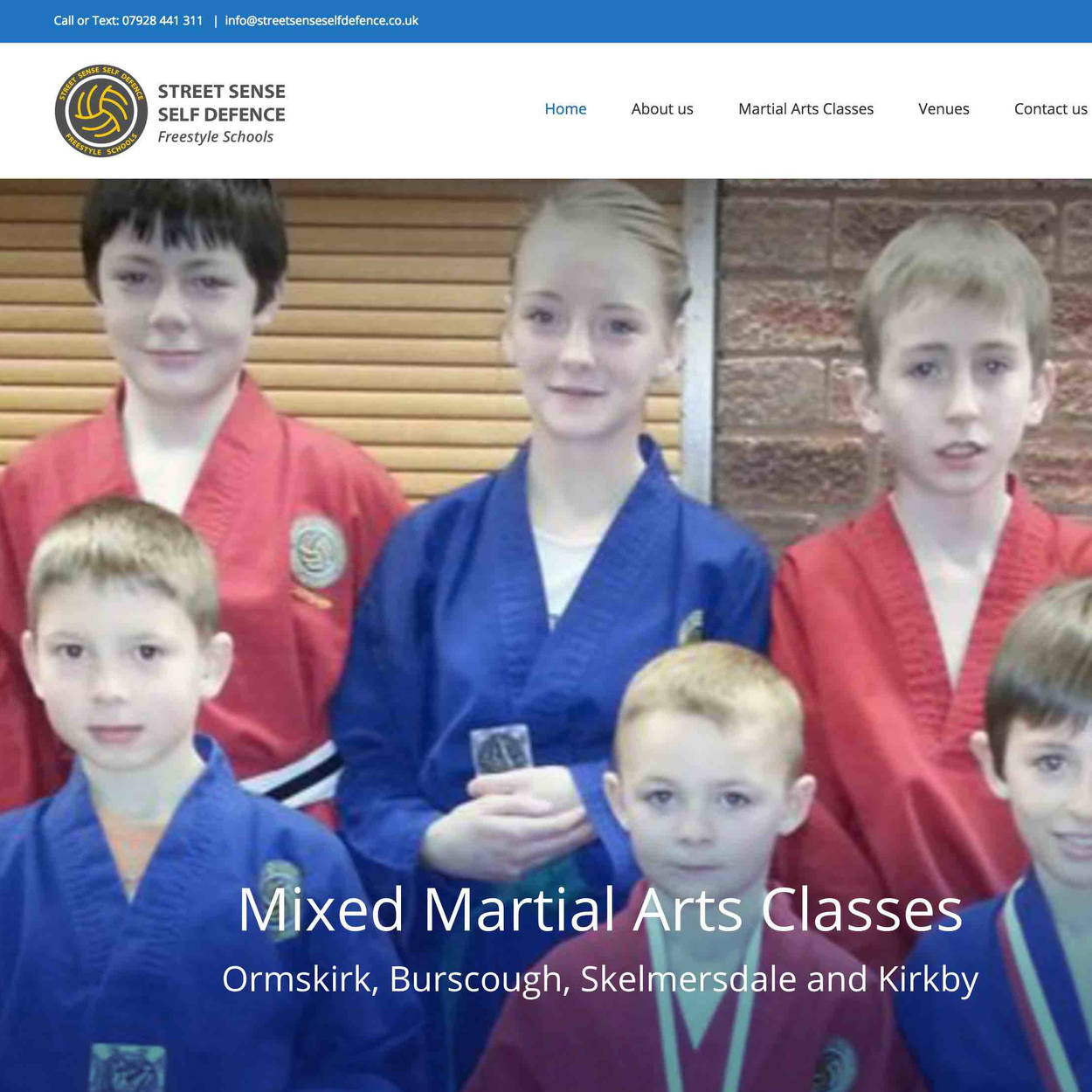 orangebox web design, Street Sense Self Defence Karate School